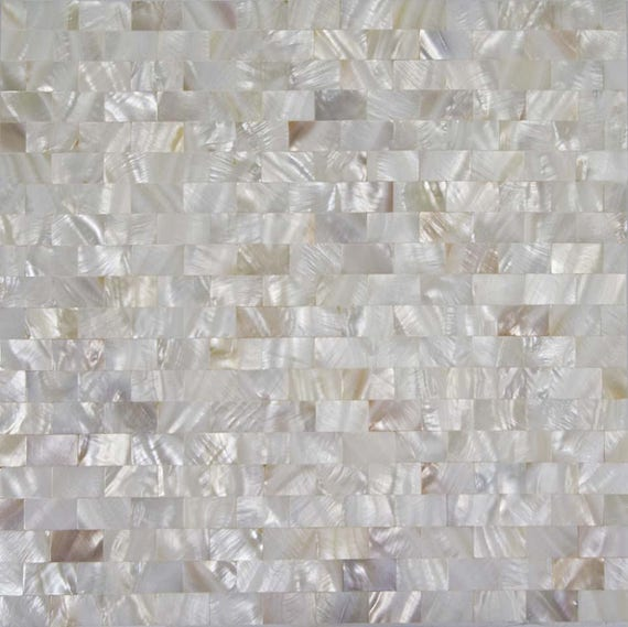 Mother Of Pearl Tile Seamless Shell Mosaic Wall Tiles Subway Etsy