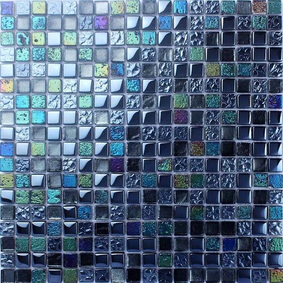 Bleu Mosaique Carreaux Plaque Pierre Et Dosseret Irise Cuisine