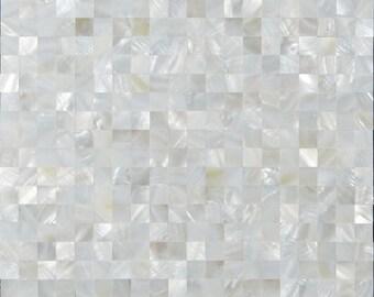 Mother of Pearl Tile White Square Shell Tiles Kitchen Backsplash Wall Decor Seamless Mosaic Tile Cheap Floor Tile