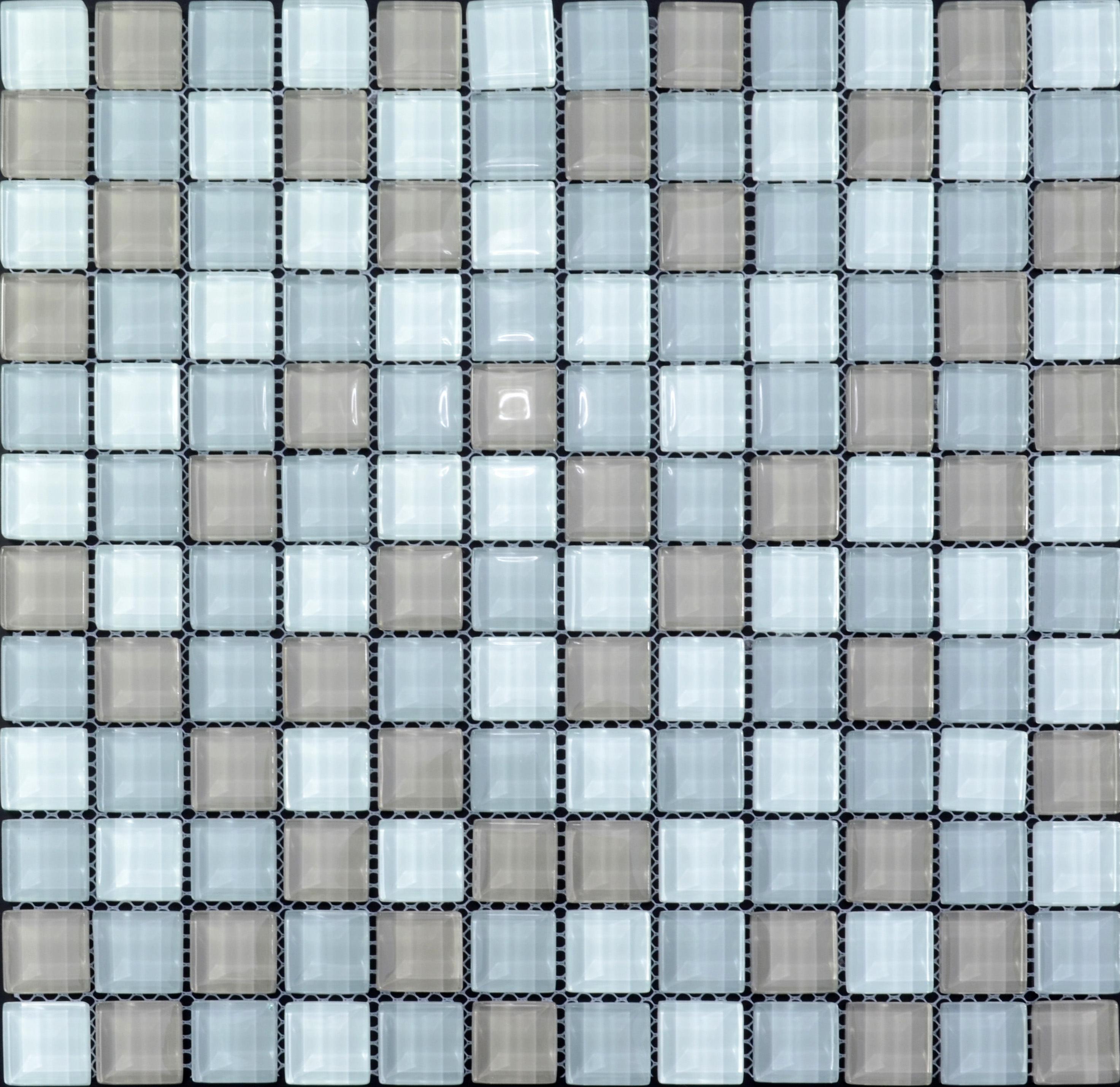 Glass Mosaic Tiles Blacksplash Multi-color Crystal Mosaic Tile | Etsy