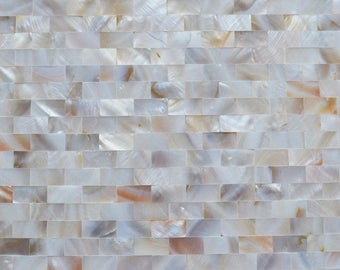 Freshwater Mother of Pearl Tile Shower Seamless Liner Wall Backsplash Rectangle Bathroom Subway Shell Mosaic Tiles