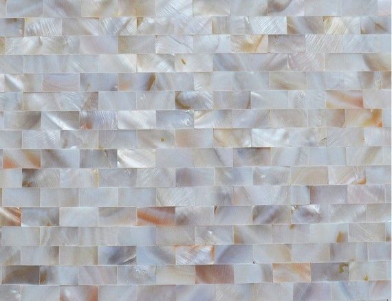 Freshwater Mother Of Pearl Tile Shower Seamless Liner Wall