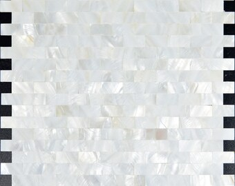 White Mother of Pearl Tile Bathroom Seamless Subway Tile Shell Mosaic with Base Kitchen Wall Tile Backsplash