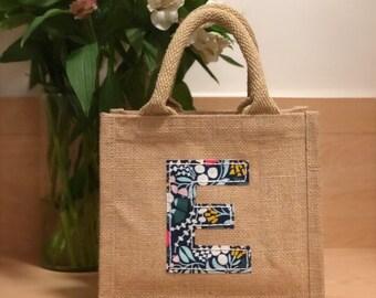 a9b016e2ca Personalised liberty style jute bag
