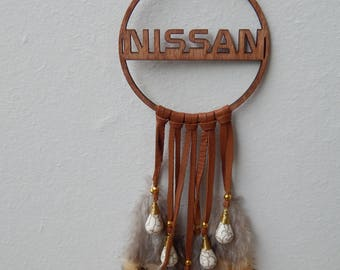Nissan Personalized Car Decor, Car Mirror Accessories, Mini Dreamcacher, Nissan lover birthday gift, Car Dream Catcer.