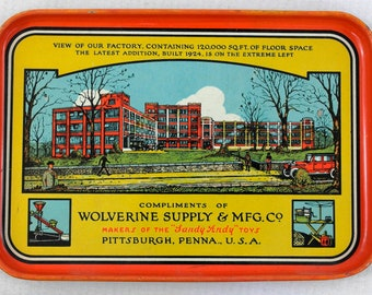 Tin Litho Tray Wolverine Suple & Manufacturing Company