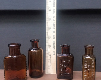 Vintage Brown Bottle Collection