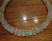 Ethiopian Welo Opal Bracelet, High Quality white large opal beads, Handmade Bracelet, Gem Bracelet, Gift For Her, October Birthstone
