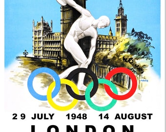 Olympic Games London 1948 Summer Poster Reproduction