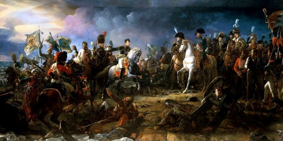 Napoleon A La Bataille Dausterlitz Peinture Par Francois Etsy