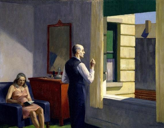 Hotel Par Un Tableau De Chemin De Fer Par Edward Hopper Art Etsy