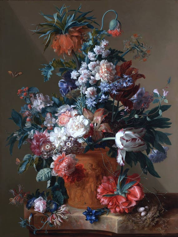 Risultati immagini per Vaso di Fiori» di Jan van Huysum