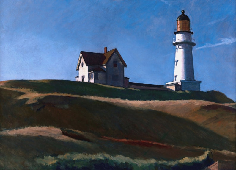 Lighthouse Hill Painting by Edward Hopper Art Reproduction