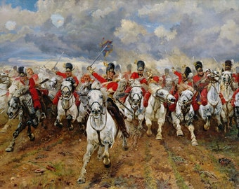 Scotland Forever! Painting by Elizabeth Thompson Art Reproduction