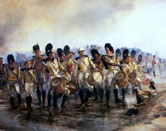 Steady the Drums and Fifes Painting by Elizabeth Thompson Art Reproduction