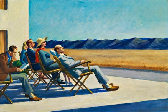 People in the Sun Painting by Edward Hopper Art Reproduction | Etsy