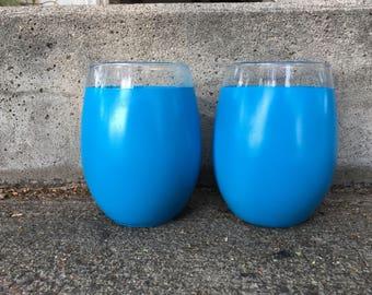 Set of 2 Stemless Wine Glasses
