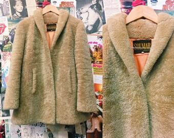 8de87c0b39cbe Vintage Sheepskin Heavy Teddy Bear Coat