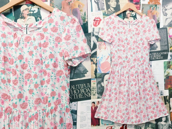 Sweetheart Roses Floral Babydoll Dress