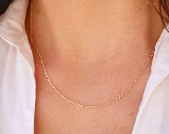 collier court cha/îne /à maillons large en argent massif 925 Collier choker ras du cou collier argent collier ultra fin minimaliste