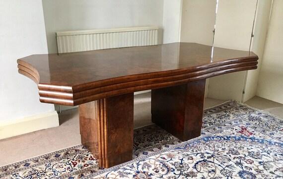 Rare ART DECO Walnut Dining Table c 1930\'s