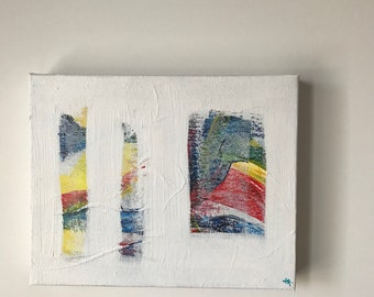 Small original painting on canvas, abstract artwork, wall art,