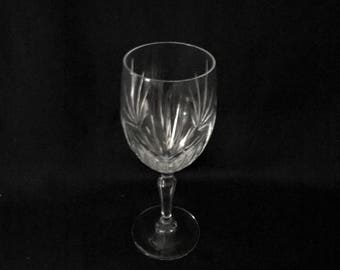 Vintage Crystal Wine Glass Actual or Similar to Princess House Highlights Plain Pattern