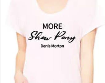Show Pony-Ladies' Flowy Raglan T-Shirt-Bella Canvas