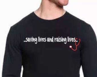 PMG Saving Lives and Raising Lives Stethoscope -Long Sleeve