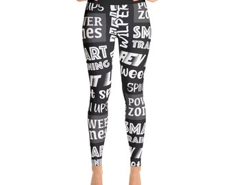 Wilpers Approved Power Zone Themed Yoga Leggings