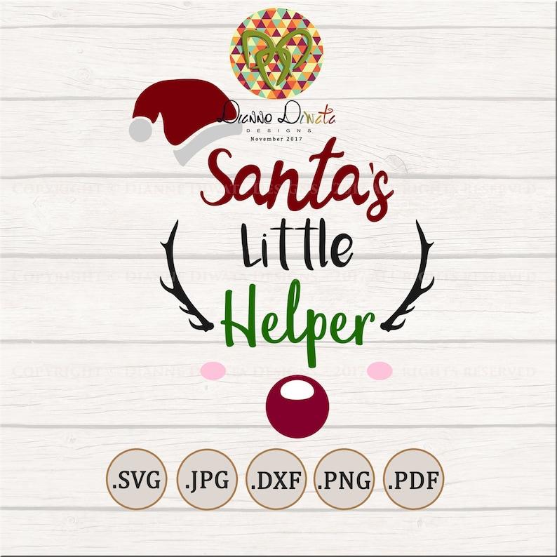 Santa's Little Helper SVG, Christmas Clip Art, Reindeer SVG Sign, Rudolph  Deer Vector, EPS png dxf, Kid Design Printable Instant Print