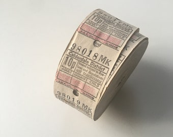 Vintage 20 bus tickets