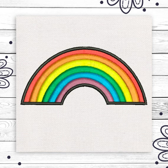 Lgbt Embroidery Rainbow Patch Discount 10 Digital Embroidery Etsy