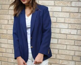 Vintage Navy Blazer | Jacket | Sports Coat | 80s