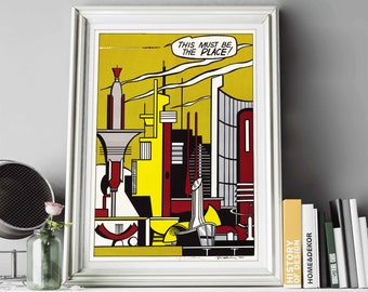 """Roy Lichtenstein Print * Mid Century Modern Art * Pop Art * Gallery Quality Art Reproductions * Giclee Print * """"This Must Be the Place"""" 1965"""