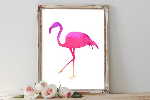 picture about Flamingo Printable titled Flamingo Watercolour printable, red flamingo printables, tropical chook print, residence decor, printable artwork, reward for her, bridesmaid presents