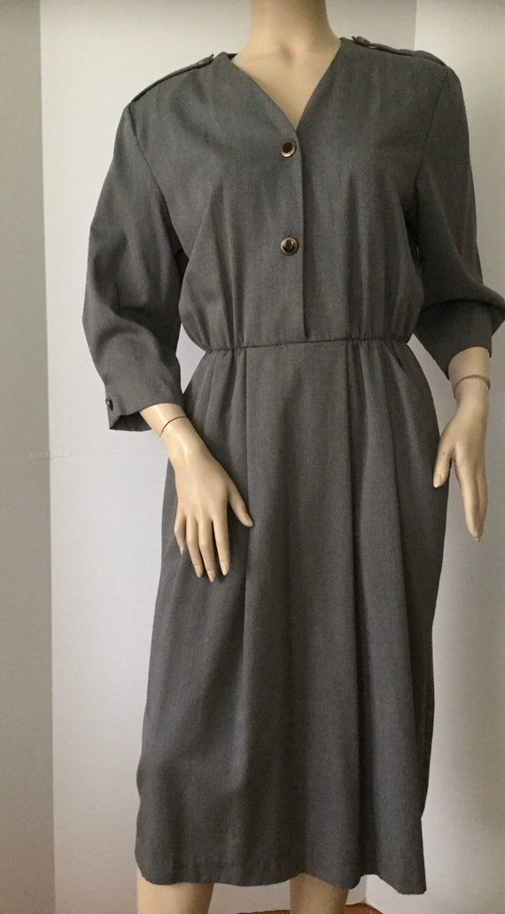 Tina Barrie Gray Pocketed Dress