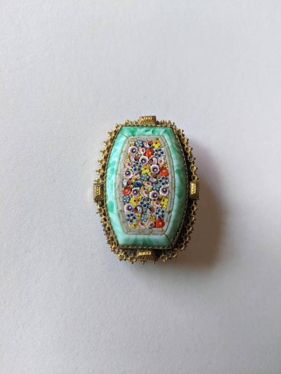 1930s micromosaic brooch