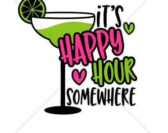 It's Happy Hour Somewhere Sublimation Transfer
