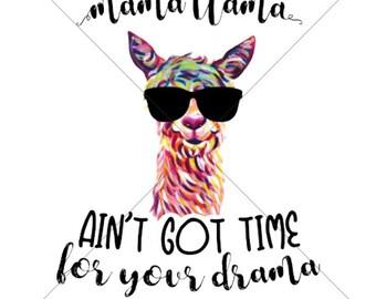 Mama Llama Sublimation Transfer for Shirts