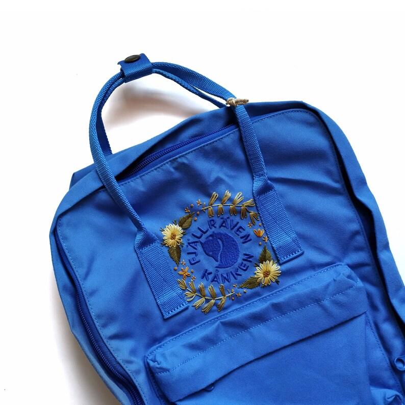 UN Blue ReKanken Backpack  Fjallraven Kanken  Embroidery image 0