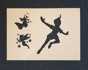 Peter pan stencilMylar Plastic Sheet Reusable Template TINKERBELL