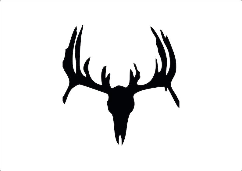 Deer head stencil laser cut from mylar