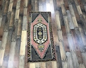 Small Rugs Wellcome Mat Door Mat Rug Turkish Rug Bath Mat 3.11x,1.10 ft Door Mat Rug Outdoor Rug Vintage Bath Rugs Free Shipping CODE H078