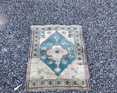 Small Welcome Door mat,Oushak Rug 3 x3 39 39 8 ft,Vintage Rug,Turkish Rug Low Pile Pastel Rug,Office Rug,Handmade Antique Rugs ,Rug,CODE 619