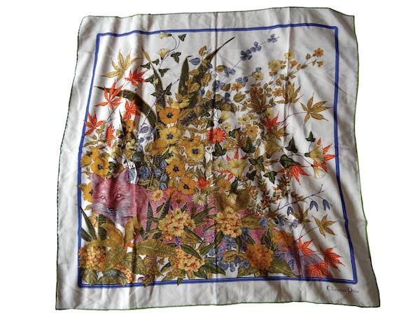 Christian Dior Vintage Scarf Silk foulard Carré Vintage   Etsy 47594b5f5b5