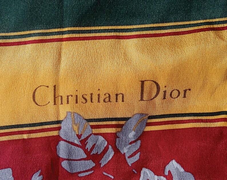 Los Angeles vaste sélection prix incroyable Écharpe Christian DIOR , Vintage Foulard Dior , Christian Dior foulard  écharpe en soie , Cadeau pour elle ou pour lui , Made in France.
