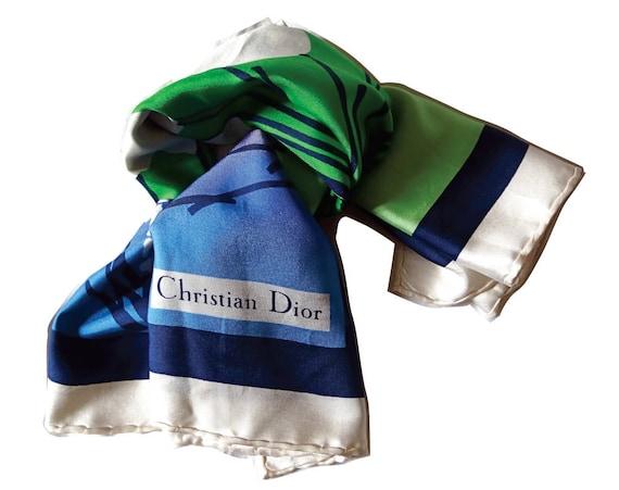 sélectionner pour véritable chaussures élégantes belle et charmante Christian Dior Vintage Silk Scarf ; Foulard Vintage en Soie ...