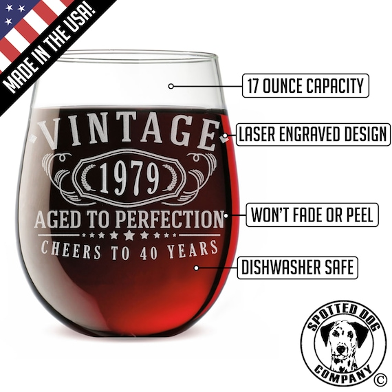 Stemless Wine Glass Making America Great Since 1969 50th Birthday Stemmed