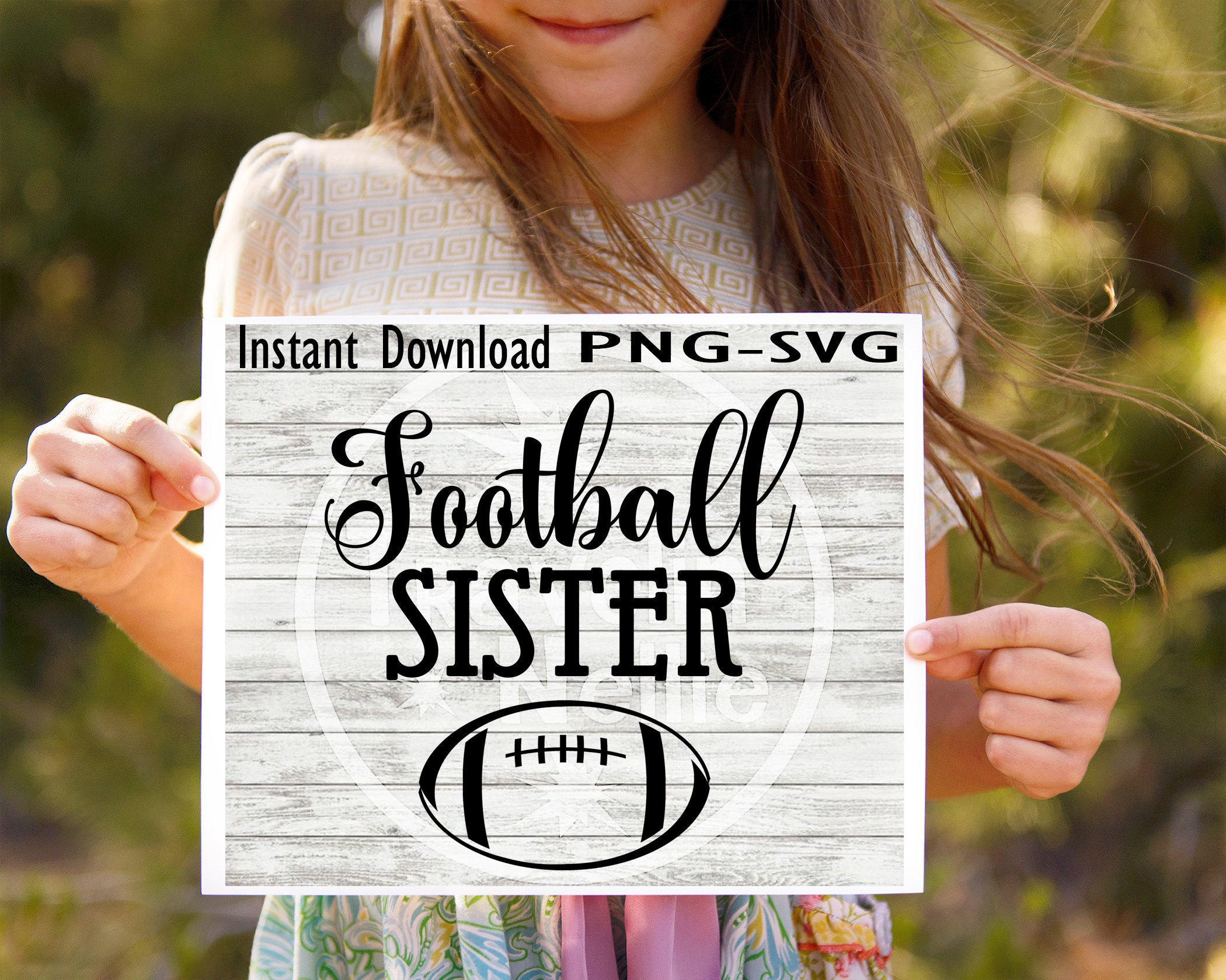 8c3da652665 Football Sister SVG PNG Cricut Cameo Silhouette Brother ScanCut Crafters  Cutting Files Scrapbooking Vinyl Sibling Sports Fan Sibling Sis